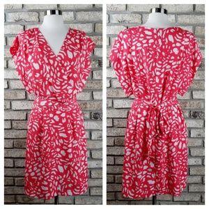 Eliza J abstract print v neck dress size 14